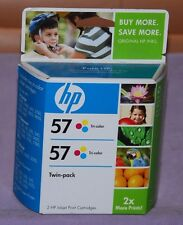 Genuine HP 57 Tri-Color C9320FN Ink Cartridge Twin Pack - New Sealed