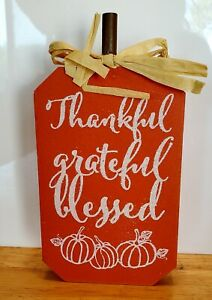 Thanksgiving Wooden Table Top Decoration Thankful, Grateful, Blessed