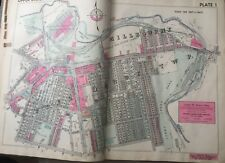 1942 DELAWARE CO PA UPPER DARBY TWP COBBS CREEK PARK ST ALICE'S CHURCH ATLAS MAP