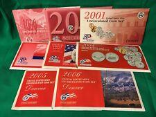 1999 US Mint Set Denver 9 Coins Kennedy Half Dollar Quarters Free Shipping 19922
