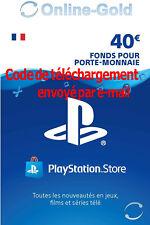 Carte Playstation Network 40 EUR - €40 PSN Jeu PS3 PS4 PS Vita Compte français