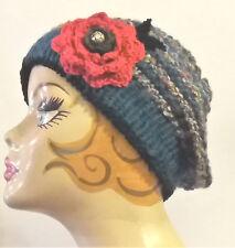 Cappello/donna/invernale/fiori/basco/shabby/berretto/boho/rose/San Valentino