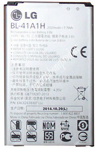 LG OEM BL-41a1H battery for  LG Tribute LS660 Boost, Sprint Moblie, Virgin