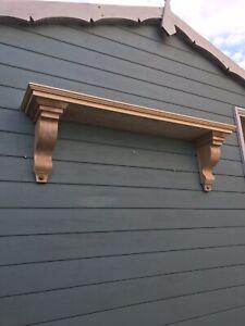 120 Cm Long Bespoke Joinery Grade Redwood Mantel