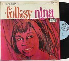 NINA SIMONE Folksy Nina LP VG+ vinyl / shrink STEREO Colpix SCP-465 (1964)