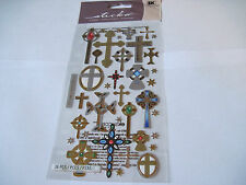 Scrapbooking Stickers Sticko Multiple Crosses Small Large Different Shapes Types