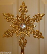 Handmade Gold Shimmer Snow Flake Lampshade Finial *New*