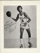 1973 Autograph of Tom Boerwinkle on Norm Van Lier Photo Print