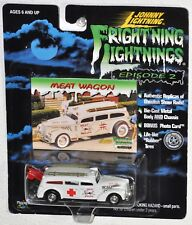 Johnny Lightning Frightning Lightning Meat Wagon Ambulance with Surfboards MOC
