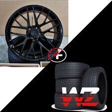 "22"" Gloss Black Wheels w/ Tires Mesh Fits Audi Q7 Porsche Cayenne VW Touareg"