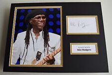 Nile Rodgers SIGNED autograph 16x12 photo display Chic Le Freak AFTAL & COA