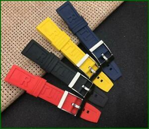 RUBBER STRAP PRO DIVER BAND FIT FOR BREITLING 22MM 24MM BLACK BLUE YELLOW RED