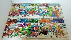 THE OFFICIAL HANDBOOK OF THE MARVEL UNIVERSE DELUXE ED (1985) 1-20 COMPLETE SET