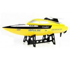 """18"""" Rc Tiger Shark Speed Racing Boat Remote Control 2.4Ghz Yellow New"""