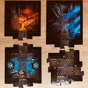Space Hulk 2009/2014 Rooms & Offset Crossroads Tile Booster Bundle 4 Pieces