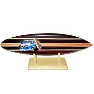 Deko Holz Surfboard 30 cm lang Airbrush Design Surfing Surfen Wellenreiten Surf