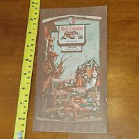 RARE OLD VINTAGE RED LOBSTER MENU 1974 FINE SEAFOOD ORLANDO FLORIDA RESTAURANT