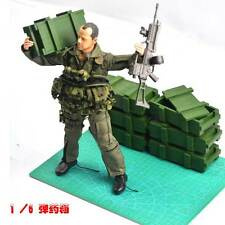 1/6 scale WEAPONS AMMUNITION BOX GREEN x 12 inch soldiers scene accessories toys