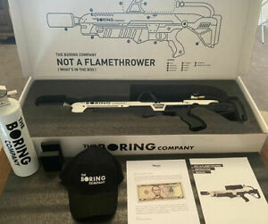 The Boring Company Not A Flamethrower Low Serial Number BRAND NEW