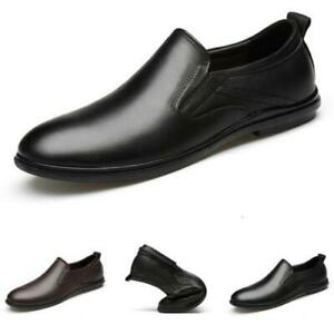 Mens Faux Leather Pumps Slip on Loafers Shoes Driving Moccasins Soft Walking L