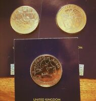 24ct Gold Plated 2020 Mayflower Agatha Christie VE Day £2 Pound Coin Collection