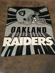 Oakland Raiders Fleece Throw Blanket - 50 x 60