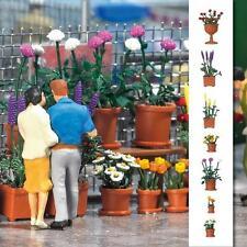 BUSCH 1209 Kit de montage pour 20 Pots à plantes avec Fleurs