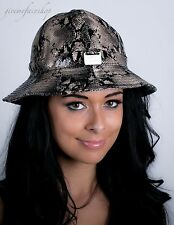 Mens, ladies bucket hats, urban snakeskin fitted premium fisherman's hat style