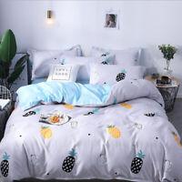 Pineapple Comfort Bedding Set Duvet Quilt Cover+Sheet+Pillow Case Four-Piece