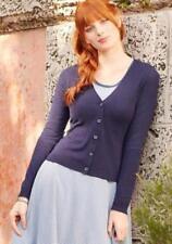 womens MATILDA JANE SECRET GREETING Cardigan Chiffon Navy Knit Size L Large