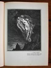 1954 Dante.Divina Commedia.INFERNO.PAOLO E FRANCESCA.Poeta, volentieri..Dorè