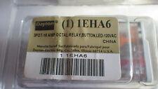 DAYTON 1EHA6 Octal Relay, BUTTON, LED 3PDT-16 AMP 120 VAC NIB