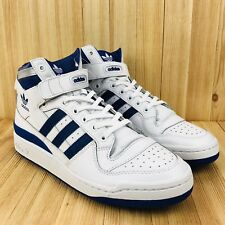 more photos 8887f ae9fc Adidas Originals Forum Mid Refinado Hombre Talla 10.5 Blanco Azul Real Plata