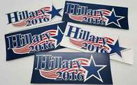 Hillary Clinton For President 2016 Bumper Stickers (5) - FREE SHIPPING!