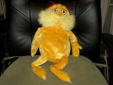 "2005 Dr Seuss Kohl's Cares kids 18"" yellow The Lorax he who speaks for the trees"