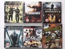 PS3 Game Bundle - Viking Battle For Asgard+ Borderlands 2+Stranglehold+More-1081