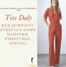 Brand new Tess Daly Reiss Red Scarlet Wide Leg Jumpsuit With Short Sleeve ASOS