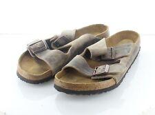 R35 $135 Men's Sz 11 M Birkenstock Arizona Oiled Leather Soft Footbed Sandal
