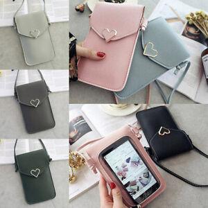 Women Crossbody Bag Handbag PU Leather Mobile Phone Bag Purse Small Shoulder Bag