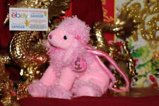 "TY BEANIE PINKY FAB THE PINK POODLE PURSE-8""X10""-2004-RETIRED-MWNMT-NICE GIFT"