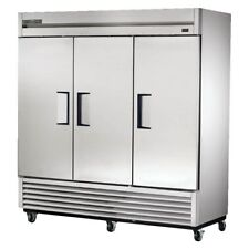"""True Ts-72F-Hc 78"""" Stainless Steel Reach-In Three-Section Freezer"""