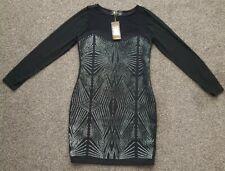 Lipsy Bodycon Dress Sheer long sleeves Kardashian Collection. Size UK 14. BNWT