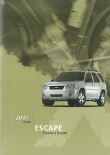 2007 Ford Escape Owners Manual User Guide Reference Operator Book