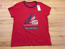 $50 POLO RALPH LAUREN NWT Women's Red P15 Sailing Team SS Tee Shirt Size L
