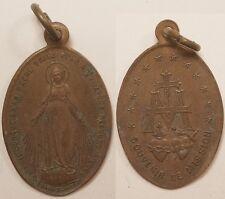 Médaille Religieuse, Marie, Souvenir de Mission, 19° siècle !!