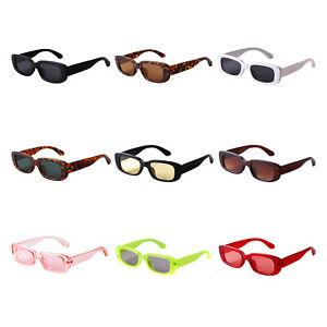ADEWU Mode Sonnenbrille Rechteckig Retro Schmale Brille mit UV Schutz Sungl
