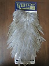 Fly Tying-Whiting American Rooster Saddle White dyed Medium Dun #A