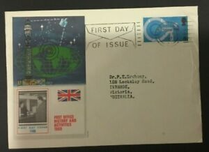 Great Britain FDC 5d National Giro 1969 with novel advertising insert