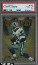 1997 Finest #165 Barry Sanders RARE PSA 10 HOF Lions Pop 5