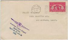 USA 1927, 2 C. Freiheitsglocke (MiNr. 303) auf Brief mit Flugpostsonderstempel